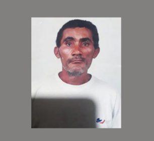 Gildo Pereira, mais conhecido como Fião, está desaparecido desde o último dia 09