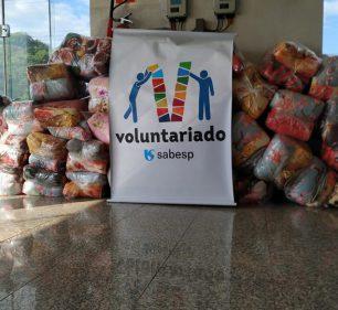 Sabesp entrega 350 cobertores ao Fundo Social de Solidariedade (Foto: Departamento de Comunicação)