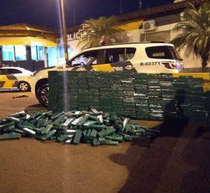 Polícia Rodoviária apreende quase meia tonelada de maconha em rodovia de Ourinhos — Foto: Polícia Rodoviária/Divulgação