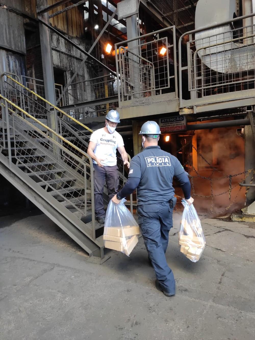Incineração foi em uma usina de Tarumã — Foto: Polícia Civil / Divulgação