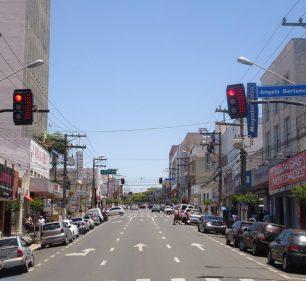 Avenida Rui Barbosa, principal avenida de Assis (Foto: Reprodução)
