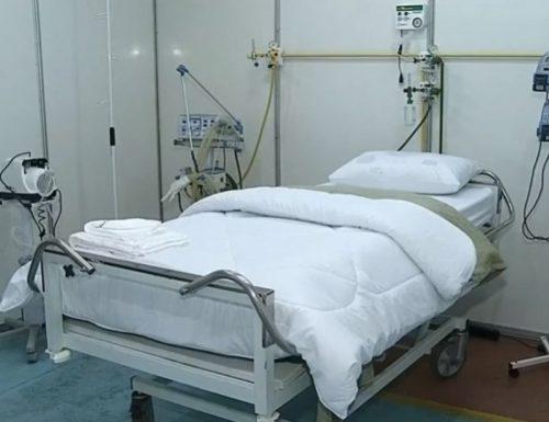 Segundo a prefeitura, foram investidos R$ 750 mil para a montagem do hospital de campanha — Foto: TV TEM/Reprodução