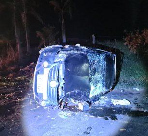 Motorista do carro fugiu em prestar socorro e ainda não foi localizado (Foto: João Trentini/ Divulgação)