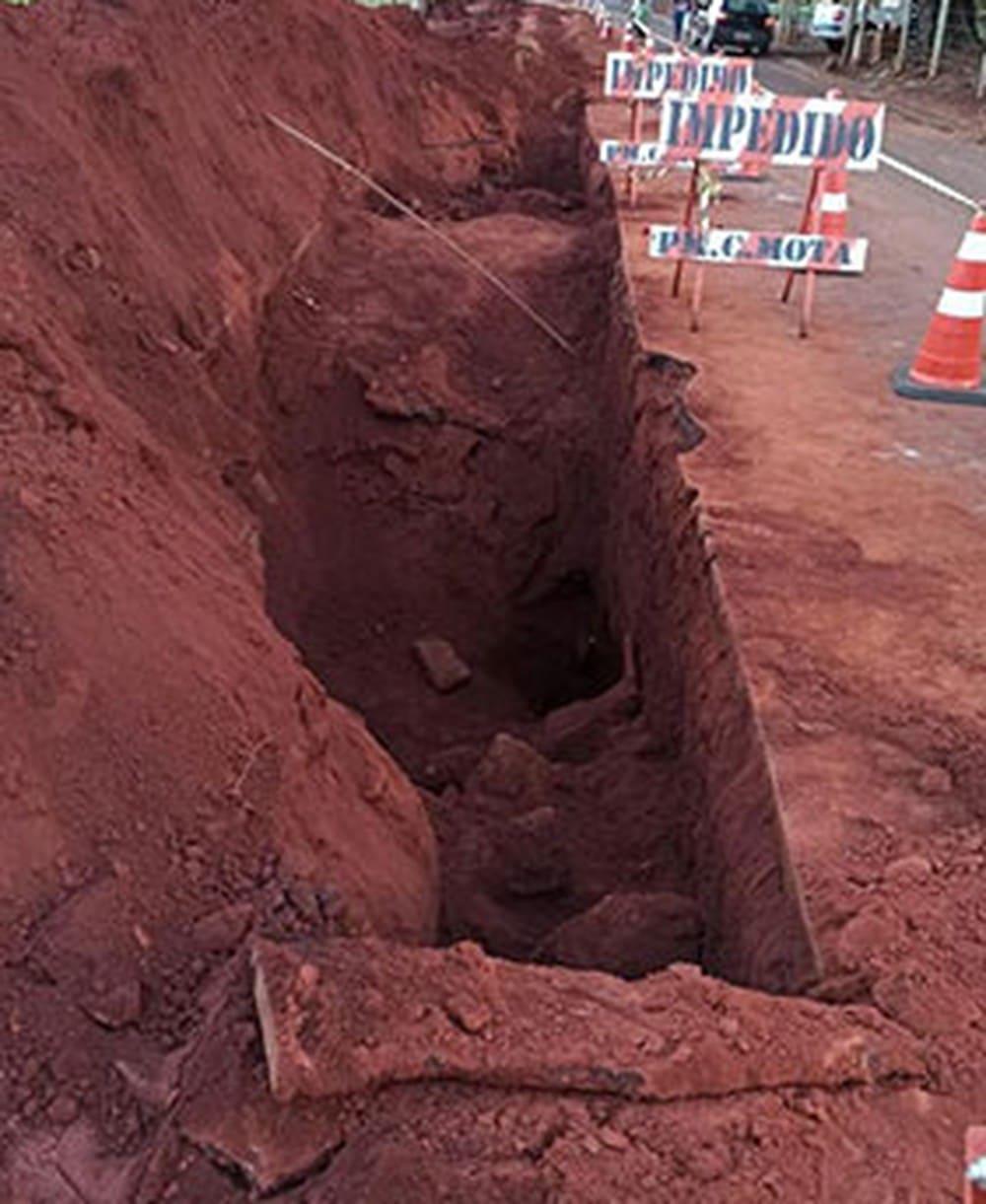 Trabalhador morreu soterrado na obra em Cândido Mota — Foto: José Zambito / Arquivo pessoal