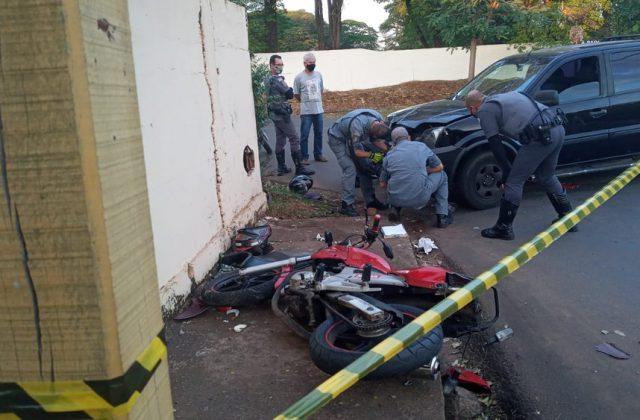 Mulher é presa por homicídio após bater carro contra moto com o marido e outra mulher em bairro de Paraguaçu Paulista — Foto: Arquivo pessoal
