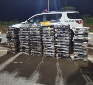 Polícia Rodoviária apreende mais de 200 kg de maconha em rodovia de Ourinhos (SP) — Foto: Polícia Militar Rodoviária de Ourinhos/ Divulgação