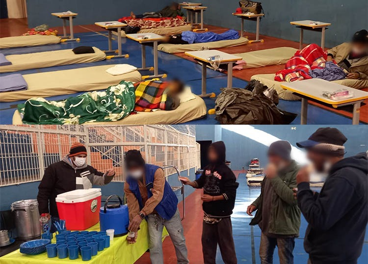 Primeira noite no GEMA acolhe 10 moradores em situação de rua (Foto: Departamento de Comunicação)