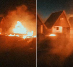 Incêndio atingiu os chalés de motel desativado em Assis — Foto: The Brothers/ Divulgação