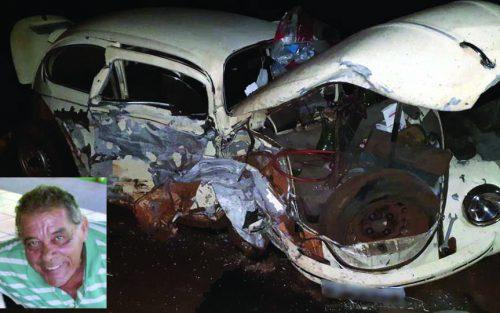 Dercides conduzia um Fusca e morreu no acidente
