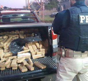 Motorista que dirigia a caminhonete com drogas em Ourinhos (SP) já tinha antecedentes criminais por furto e roubo. — Foto: Polícia Rodoviária Federal/ Divulgação