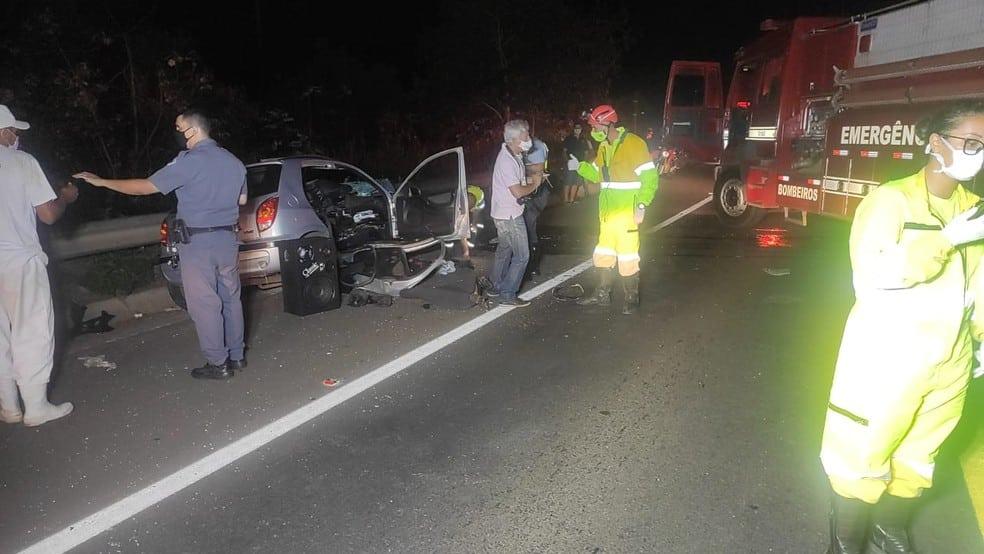 Acidente foi registrado na Rodovia Homero Severo Lins (SP-284), em João Ramalho — Foto: Polícia Rodoviária