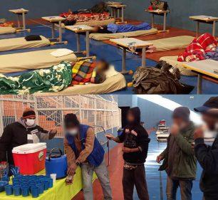 O local está disponível a partir das 19h, e oferece colchão, cobertores, banho com água quente, kits de higiene e alimentação (Foto: Departamento de Comunicação)