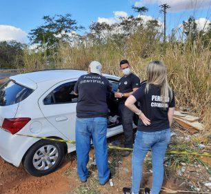 Preso que fugiu da Santa Casa de Paraguaçu Paulista (SP) foi perseguido pela polícia e alcançado em rodovia em Oscar Bressane (SP) — Foto: Anderson Camargo/TV TEM