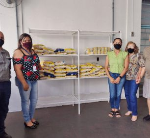 ISA CTEEP repassa mais de 230 kg de alimentos ao Fundo Social (Foto: Departamento de Comunicação)